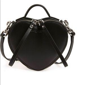NWT Marc Jacobs Heart Leather Crossbody Bag